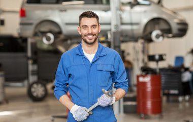 mechanic smiling