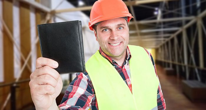 man with wallet
