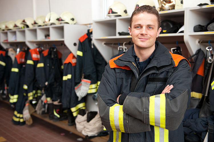 firefighter in station