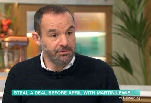 martin lewis on This Morning discussing uniform tax