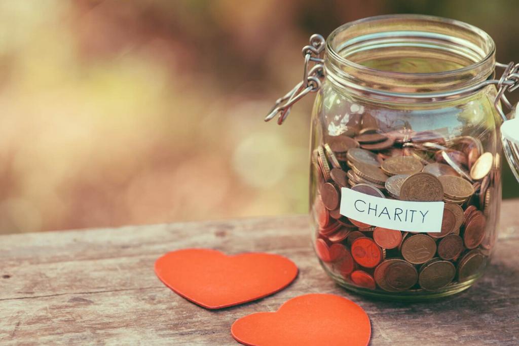 wedding donations money jar
